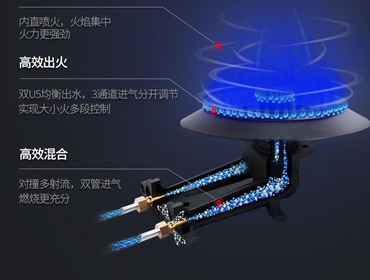 分体式炉头分盖结构燃烧系统